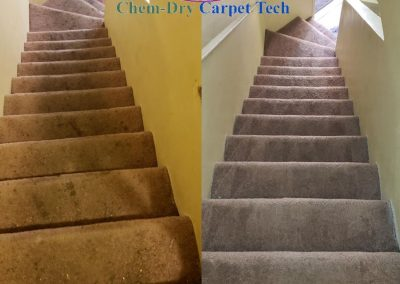 before and after of dirty stairs carpet cleaning los angeles