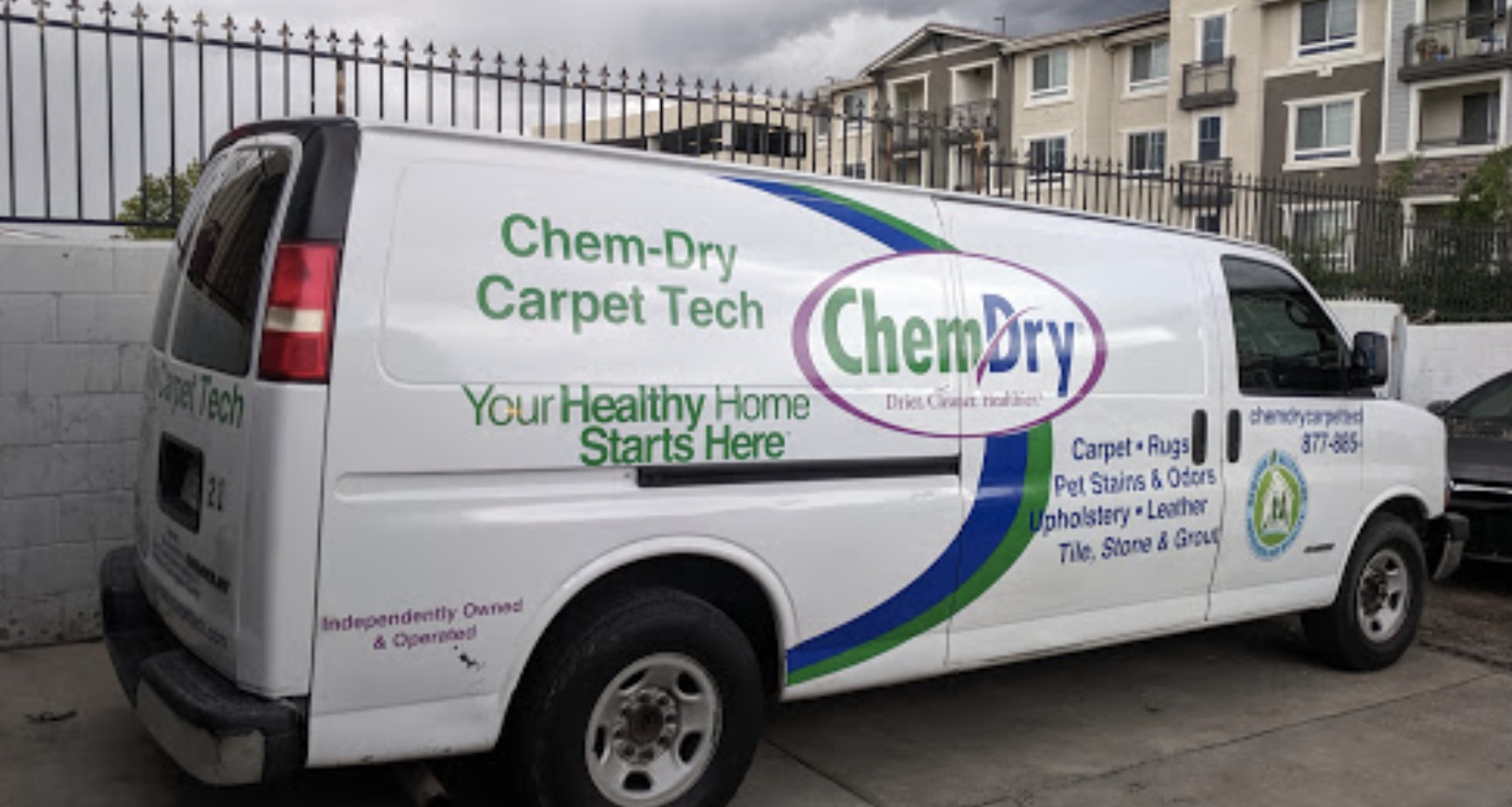 chem dry carpet tech van